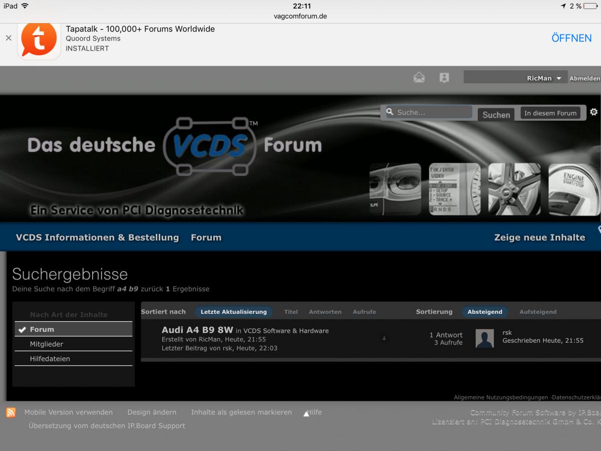Audi A4 B9 8W - VCDS Software & Hardware - Das deutsche VCDS Forum