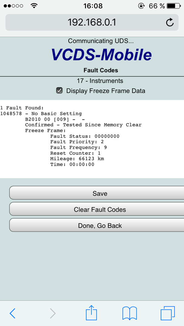 Hex-Net Mobil Fehler - VCDS Software & Hardware - Das